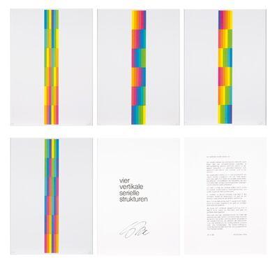 """Richard Paul Lohse, '""""Vier Vertikale Serielle Strukturen"""", 1980'"""