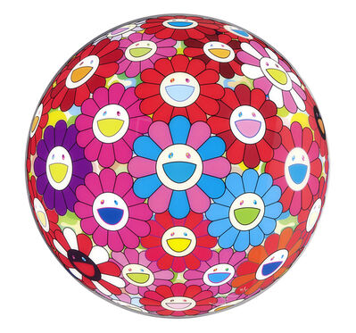 Takashi Murakami, 'Flower Ball 3D Blue Red', 2013