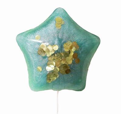 Betsy Enzensberger, 'Aqua Confetti Resin Balloon', 2018