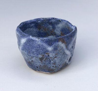 Goro Suzuki 鈴木五郎, 'Guinomi, Shino Blue with streaks of white', 2016