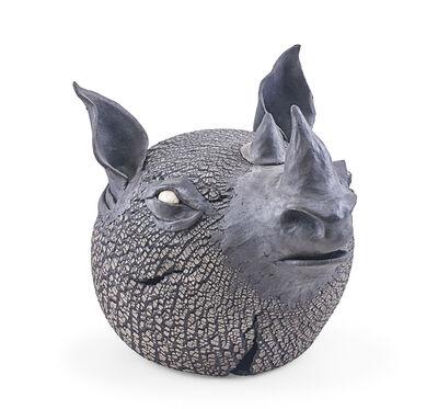 Ellen Silberlicht, 'Raku-fired ceramic rhino'