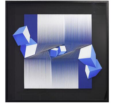 Alberto Biasi, 'Contrasti dimensionali', 1991