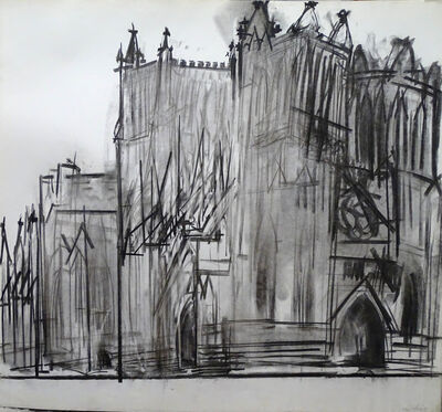 Dennis Creffield, 'Southwell Cathedral', 1988