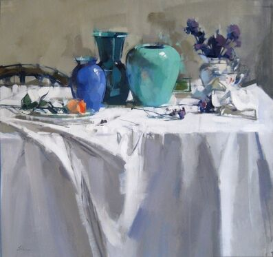 Maggie Siner, 'Blue Vases and Violet', 2016