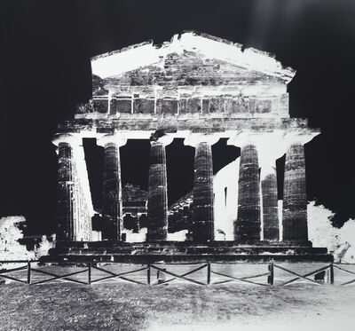Vera Lutter, 'Temple of Athena, Paestum, X: October 12', 2015