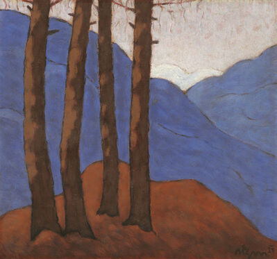 Artur Nikodem, 'Mountain Landscape with Larch Trees', 1931