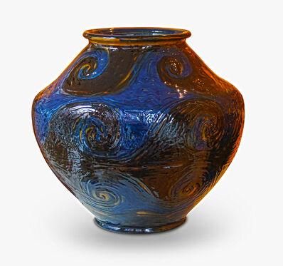 Jens Thirslund, 'Monumental vase with scrolling wave design', 1913-1930