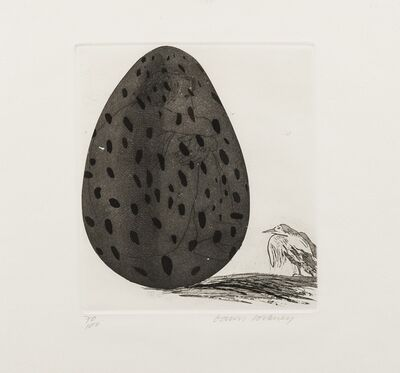 David Hockney, 'The boy Hidden in an Egg (Tokyo 69)', 1969