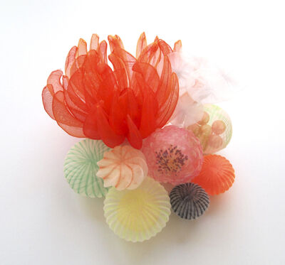 Mariko Kusumoto, 'Red Flower Brooch', 2020