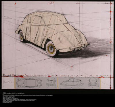 Christo, 'Wrapped Volkswagen (Project for 1961 Volkswagen Beetle Saloon)', 2013