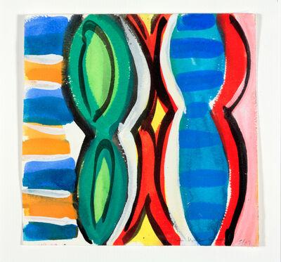 Kim MacConnel, 'Woman with Mirror. (Canvas #06)', 2007