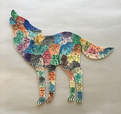 Howard Finster, 'Howling Wolf', 1989