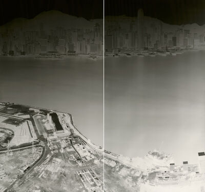 Shi Guorui 史国瑞, 'To See Hong Kong Island from Kowloon 18-21 July 2015 (diyptych)', 2015