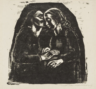 Käthe Kollwitz, 'Mary and Elizabeth', 1929