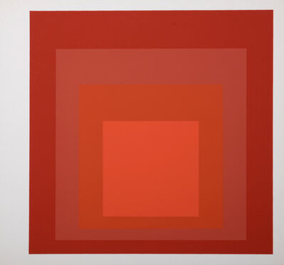 Josef Albers, 'Homage to the Square : Als Wechselwirkung der Farbe (H)', 1977
