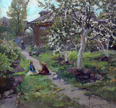 Lidya Stanislavovna Nefedova, 'In the garden', 1970