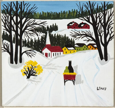 Maud Lewis, 'Sleigh in Winter', Mid-20th Century