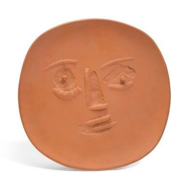 Pablo Picasso, 'Visage lunaire en relief', 1960
