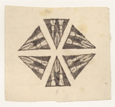 James Castle, 'Untitled (kaleidoscope drawing) ', n.d.