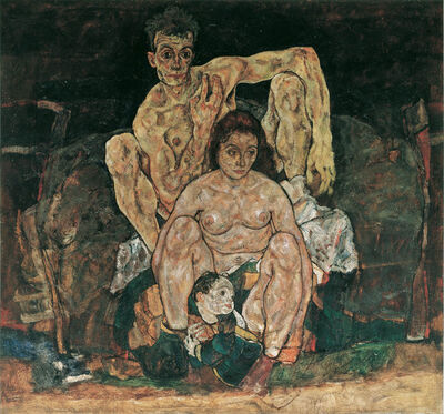 Egon Schiele, 'The Family (Self Portrait)', 1918