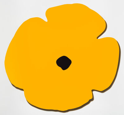 Donald Sultan, 'Yellow Wall Poppy, Aug 13, 2020', 2020