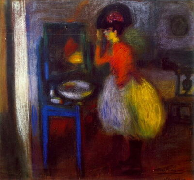 Pablo Picasso, 'In the Dressing Room', 1900