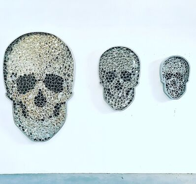 David Datuna, ' 3 different Scull sizes (medium info)', 2019