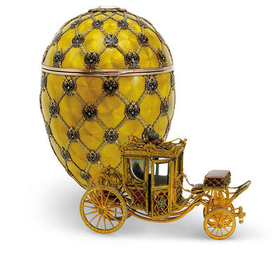 House of Fabergé, 'Coronation Easter Egg, workmaster Mikhail Perkhin', 1897