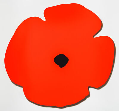 Donald Sultan, 'Red Wall Poppy, Aug 13, 2020', 2020