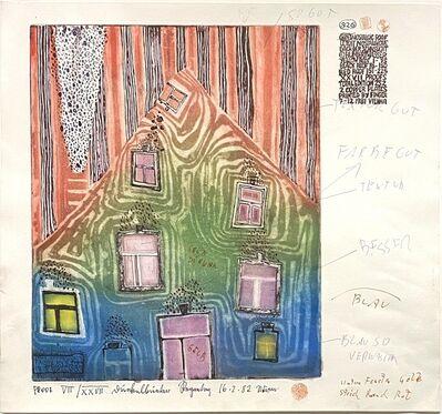 Friedensreich Hundertwasser, 'Dach der Sehnsucht (Nostalgic Roof)', 1982