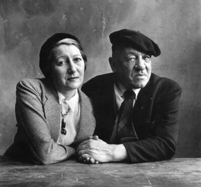 Irving Penn, 'Monsieur et Madame Blaise Cendrars (Raymone), Paris', 1950