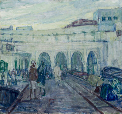 Henry Ossawa Tanner, 'Entrance to the Customs House in Tangier', ca. 1908