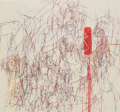 Ghada Amer, 'The Dance on Red Rhythm'