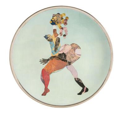 Tschabalala Self, 'Sapphire Plate', 2017