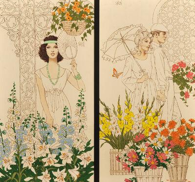 Arthur Sarnoff, 'People in Garden'