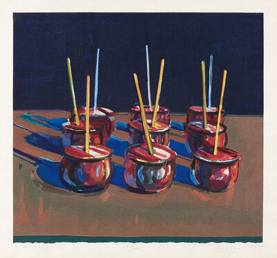 Wayne Thiebaud, 'Candy Apples', 1987