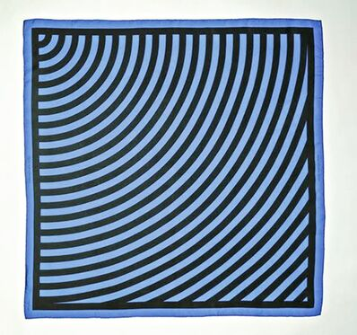 Sol LeWitt, 'Very Rare Limited Edition Vintage Signed Louis Vuitton Silk Shawl/Scarf (Blue)', ca. 1987