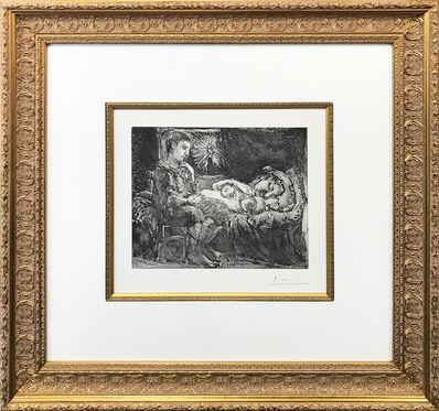 Pablo Picasso, 'GARCON ET DORMEUSE A LA CHANDELLE (BLOCH 226)', 1934