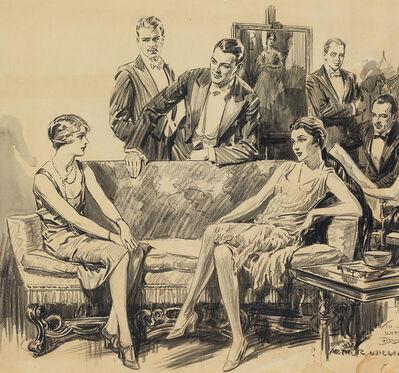 William Arthur Brown, 'Saturday Evening Post story, 1920s Parlor Scene', ca. 1920
