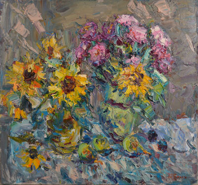 Anatoly Egorovich Zorko, 'Oil painting, original painting floral still life', 2008