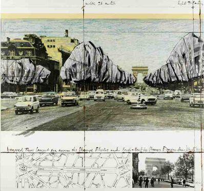Christo and Jeanne-Claude, 'Wrapped Trees, Project for the Avenue des Champs-Elysées, Paris', 1992