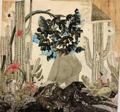 Paula Wilson, 'In the Desert: Mooning with Blue Flowers', 2016