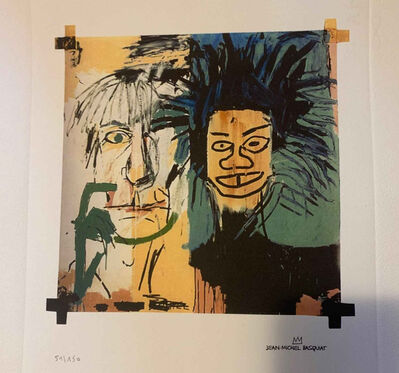 Jean-Michel Basquiat, 'Dos Cabezas (2 Heads) Repro - Basquiat & Warhol', ca. 1982