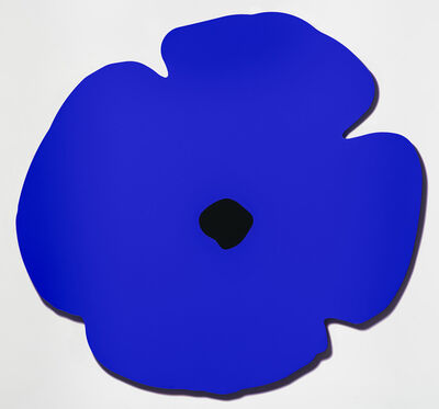 Donald Sultan, 'Blue Wall Poppy, Aug 13, 2020', 2020