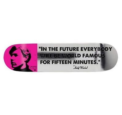 Andy Warhol, '15 Minutes of Fame Skate Deck, 2012', 2012