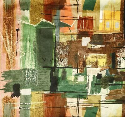 John Piper, 'Stones of Bath' printed fabric'