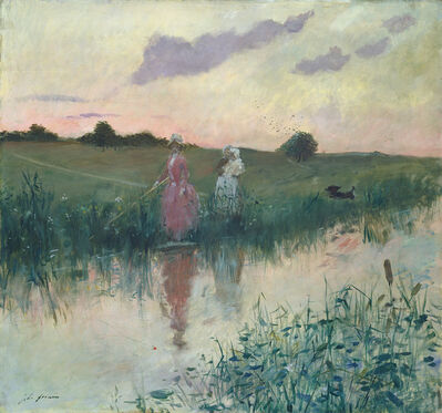 Jean-Louis Forain, 'The Artist's Wife Fishing', 1896