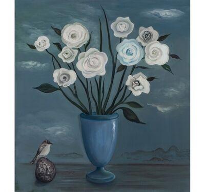Jane Smaldone, 'White Roses with Bird', 2016