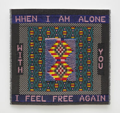 Jeffrey Gibson, 'WHEN I AM ALONE WITH YOU I FEEL FREE AGAIN', 2020