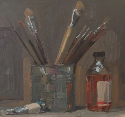 Jacob Collins, 'Paintbrushes in a Can', 1992